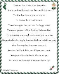 Letter Shelf Printable Elf On The Shelf Goodbye Letter Elves Shelves And