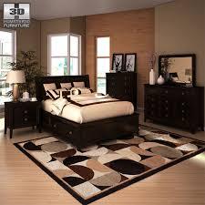 martini bedroom set 3d model ashley martini suite storage bedroom set vr ar low poly