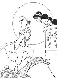 aladdin coloring pages with jasmine coloringstar
