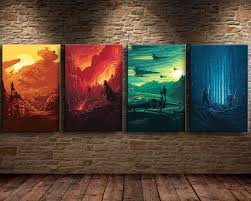 hd print oil painting wall art canvas star wars the force awakens