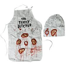 Butcher Costume Halloween 3 Size Fit Halloween Costume Bloody Family Butcher Apron