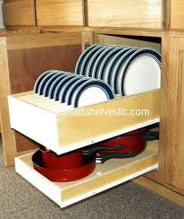 Pull Out Shelves Kitchen Cabinets Pull Out Dinner Plate Shelf By Slideoutshelvesllc Com Pull Out
