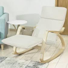 rocking chair chambre bébé meilleur sobuy fst16 w fauteuil bascule avec repose pieds réglable