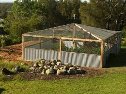 enclosed garden to keep out deer and critters home aquaponics