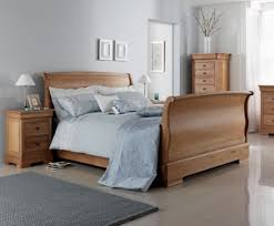 Oak Sleigh Bed Louie Wooden Sleigh Bed Oak Finish Wooden Sleigh Bed Oak