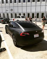 eye catching matte black tesla model 3 goes out in the wild gallery