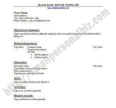 blank resume templates to print basic resume template with