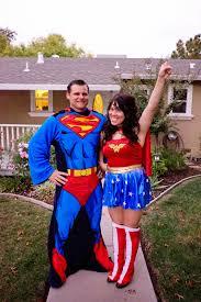 flintstone family halloween costumes domestic fashionista superman and wonder woman couple u0027s