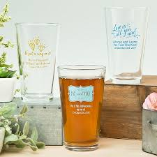 wedding favor glasses personalized 16 oz pint glass wedding favors custom pint glasses
