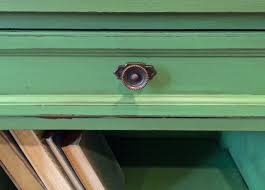 rustic green end table guest post country chic paint