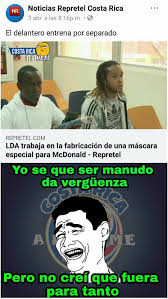 Costa Rica Meme - tirará la máscara milk28 costa rica a lo meme facebook