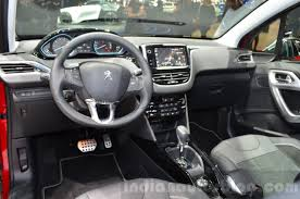 peugeot jeep interior 2016 peugeot 2008 facelift interior at the geneva motor show
