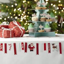 simple table decorations for christmas party christmas vintage style mini bunting buntings candy canes and