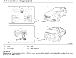 front center jacking point subaru outback subaru outback forums