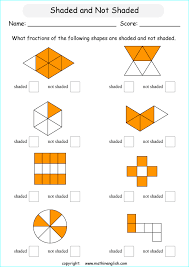 fraction worksheets for primary math grades 2 to 6 that can be