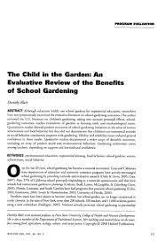 the child in the garden an evaluative review of the benefits of scho u2026
