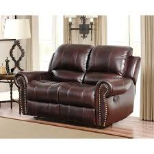 leather reclining loveseat with cup holders rocker recliner