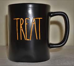 rae dunn magenta black mug 4 9 u0027 trick or treat halloween coffee