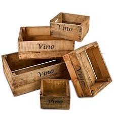 cassette vino five vino wooden wine crates vintage used wine crates