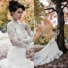 pnina tornai 2015 stunning long sleeves mermaid wedding dresses