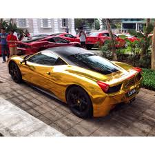 Gold Chrome Ferrari 458 Italia Madwhips