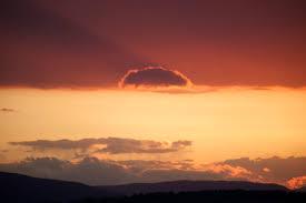 free picture orange sunset dark clouds nature landscape