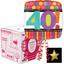 40th birthday delivery 40th birthday squarehead helium balloon box free delivery