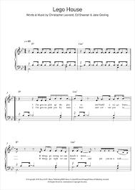 lego house tutorial guitar easy lego house sheet music by ed sheeran easy piano 122622