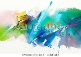 abstract oil painting landscape background colorful stock