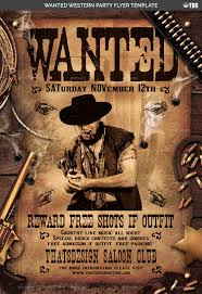 template flyer country free wanted western party flyer template by lou606 graphicriver