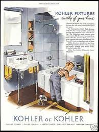 Bathroom Plumbing Fixtures 1950s Bathroom Kohler Bathroom Plumbing Fixture Boy Tub 1952