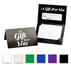 gift card holder pre printed generic folded gift card holder