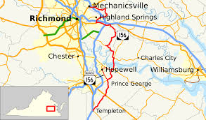 Richmond Virginia Map by Virginia State Route 156 Wikipedia
