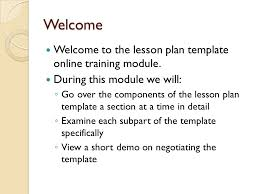 lesson plan template training ppt video online download