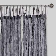 Black And Gray Curtains Gray Crinkle Voile Cotton Curtains Set Of 2 World Market