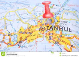 istanbul turkey map destination istanbul on the map of turkey stock photo image