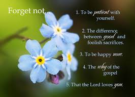 park relief society adventures forget me not lesson summary