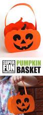 free printable paper pumpkin basket for kids crafts for kids
