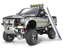 toyota hilux toyota hilux high lift electric 4x4 scale truck kit by tamiya