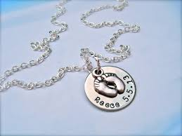 footprint necklace personalized baby footprint necklace personalized the necklace