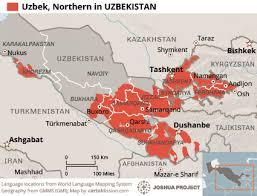 uzbekistan map in world uzbek northern in uzbekistan joshua project