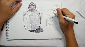pen sketch water bottle concepts youtube