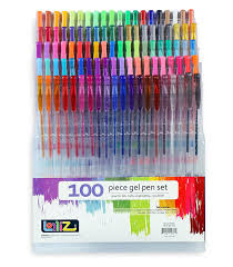 lolliz gel pens 100 unique colors gel pen tray set ideal for
