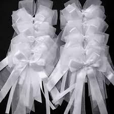 dã corer voiture mariage 10x noeud papillon ruban satin ruban tulle pr mariage voiture