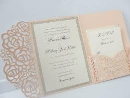 pocket fold invitations laser pocketfold 1 glitter coral blush