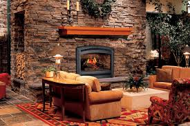 garden rustic home interior design with masonry firerock