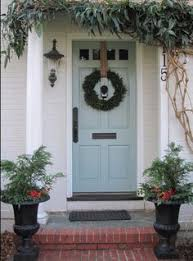 Front Door Color Teal Front Door Use Gray Shutters On The Brick House Too Lovely