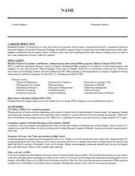 resume examples student examples collge high resume