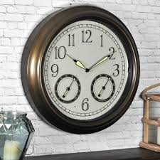 Home Decor Wall Clock Outdoor Clocks Outdoor Decor The Home Depot