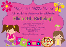sleepover party invites pizza and pajama party birthday party invitation slumber